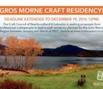 GROS MORNE CRAFT RESIDENCY