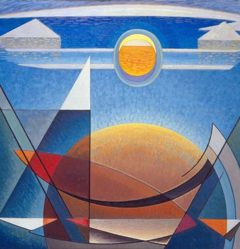 Lawren S. Harris, Sun and Earth, ca. 1939, Collection of Jeffrey C. and Suzanne C. Walker, Courtesy of Michael Rosenfeld Gallery LLC, New York, NY, © Family of Lawren S. Harris