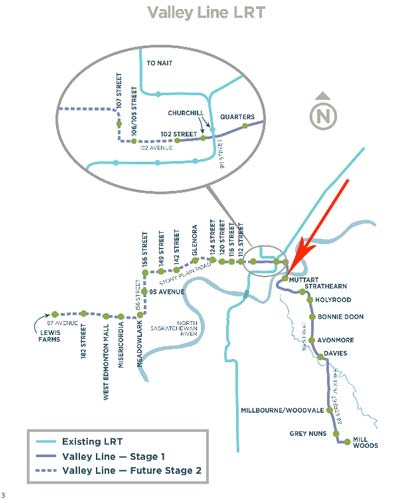 Valley-Line-LRT-map