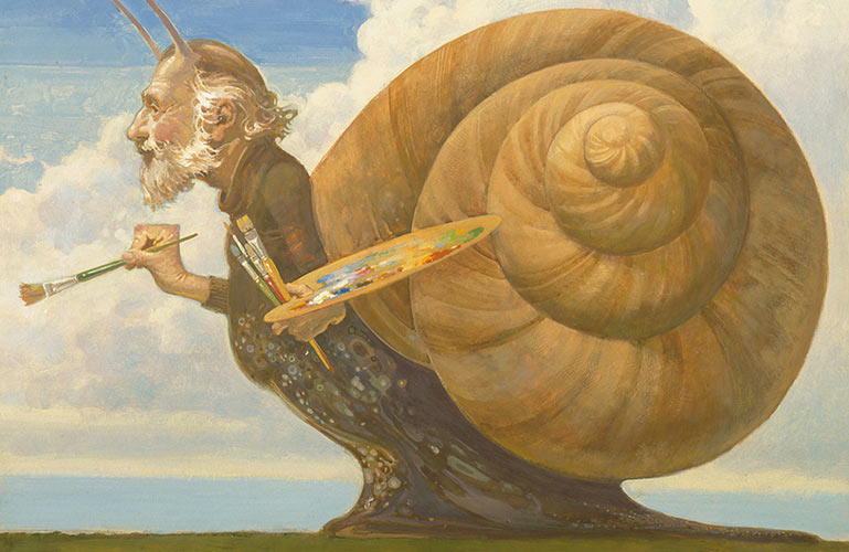 James Hill, self-Portrait as a Snail, 1979, Library and Archives Canada; c151789k