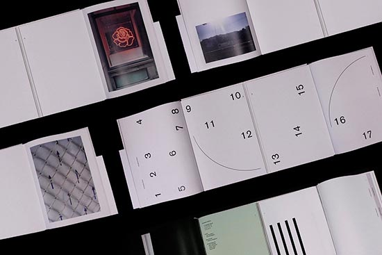 Documentation photos of The Broadbent Sisters' A Telepathic Book, winner of the 2017 Burtynsky Grant.